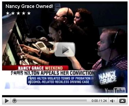 See Nancy Grace Get Owned By One Of Her Crew Members - Is that Chris Lockwood sitting beside her?